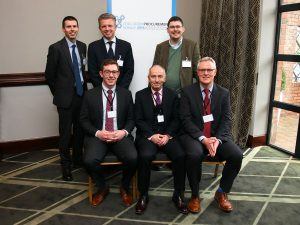 Back row: Dr Kevin Ryan TCD, David Coffey Clearview Consultancy, Dr Gordon Armstrong UL, Front row: Neil McCarthy, Philip Gurnett & David Mangan (EPS)