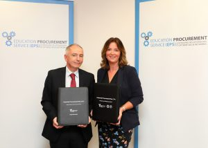 Philip Gurnett, Director of EPS and Head of Sourcing (Education) and Denise O'Malley, EPS Corporate Services Manager